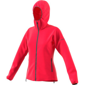 adidas TERREX Agravic Windweave Chaqueta Mujer, active pink
